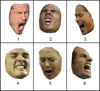 תמונות 1, 4, 6 הן של שחקן טניס זוכה בנקודה. תמונות 2, 3, 5 הן של שחקן המאבד נקודה. תצלום: רויטרס