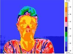 אפקט פינוקיו - בסיס האף מתחמם כאשר משקרים. מיפוי תרמוגרפי של פנים. קרדיט: תמונה באדיבות אוניברסיטת גרנדה