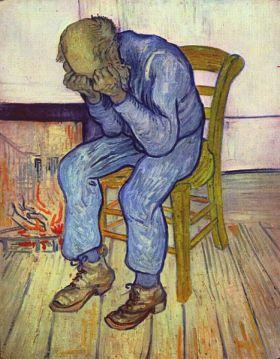 אדם זקן בצערו (על סף הנצח), אפריל-מאי 1890, סן רמי. רשיון: CC. ויקישיתוף
